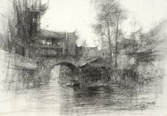 Landscape sketch demo by Chien Chung-Wei