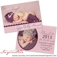 INSTANT DOWNLOAD - Birth Announcement Templates - Baby Boy Pack 1 ...