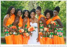 Ruben and Golda's Vibrant Ghanaian Wedding. Printed Bridesmaid Dresses, African Bridesmaid Dresses, African Wedding Dress, African Dress, African Beauty, African Fashion, African Style, Engagement Dresses, Wedding Dresses