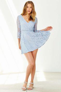 Kimchi Blue Lace Surplice-Front Dress #UrbanOutfitters