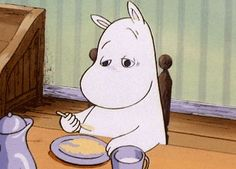"""ponnyplaykiidx: """" """"The hemulen woke up slowly and recognised himself and wished he had been someone he didn't know."""" — Tove Jansson (Moominvalley in November (The Moomins, #9)) """""""