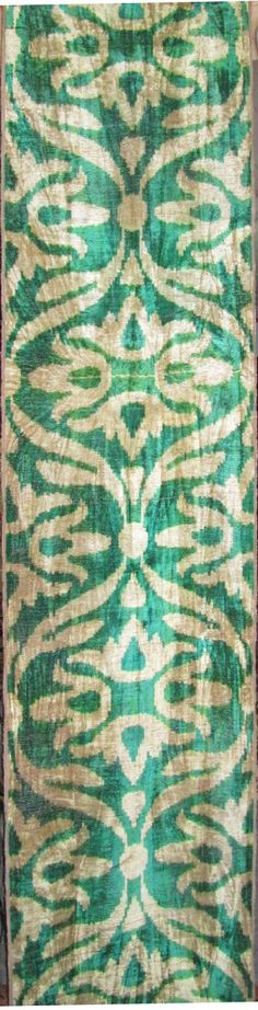 FAST Shipment with FEDEX (1-3 Days).Yuner / Silk Velvet, uzbek ikat fabric, 3 yard, K275C