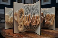 Learn how easy it is to create book folded sculpture and download the free file to create your own custom templates.