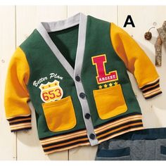 Letterman Style Cardigan - Baby Clothes - nissen Global - online store for clothing