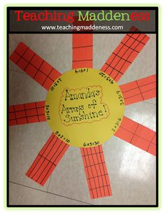 Teaching Array's great for beginning multiplication- Friday Flashback Linky: Geometry, Biographies