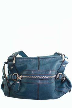 Fossil teal blue handbag