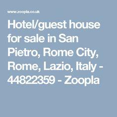 Hotel/guest house for sale in San Pietro, Rome City, Rome, Lazio, Italy - 44822359  - Zoopla