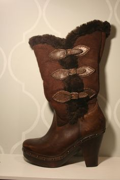Frye Shearling Boots- I'd totally wear these