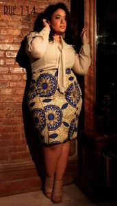 """The """"Shimmy On Over"""" Pencil Skirt in Rue 114 Signature African Print"""