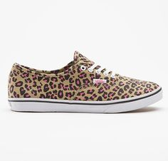 getbusy - Vans Girls 'Authentic Lo Pro' (Leopard Khaki/ Hot Pink) - http://www.getbusystore.com/collections/trainers-and-skate-shoes/products/vans-girls-authentic-lo-pro-khaki-leopard #vansgirls