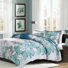 Home Essence Teen Kelly Printed Quilted Coverlet Bedding Set, Blue Bed Comforter Sets, Floral Comforter, Coverlet Bedding, Comforters, Teen Bedding, Aqua Bedding, Bedspreads, Kohls Bedding, Beach Comforter