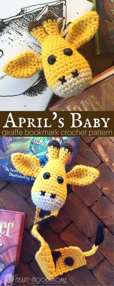 April's Baby Giraffe Bookmark Amigurumi Crochet Pattern http://hearthookhome.com/aprils-baby-giraffe-bookmark-amigurumi-crochet-pattern/?utm_campaign=coschedule&utm_source=pinterest&utm_medium=Ashlea%20K%20-%20Heart%2C%20Hook%2C%20Home&utm_content=April%27s%20Baby%20Giraffe%20Bookmark%20Amigurumi%20Crochet%20Pattern