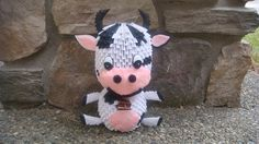 3d Origami Cow by wonderfold on Etsy