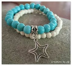 Check out this item in my Etsy shop https://www.etsy.com/listing/229147267/stackable-bracelets-blue-turquoise