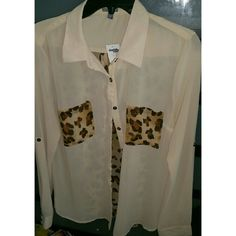 Cheetah shirt Brand new with tags Charlotte Russe Tops Button Down Shirts