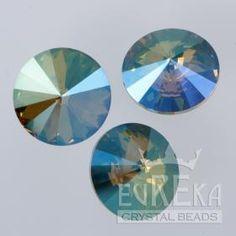 Crystal Verde 1122 Rivoli 14 mm | Eureka Crystal Beads