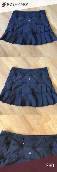 New Lululemon pace setter skirt black size 4 tall New never used no tags on Lululemon pace setter skirt size 4 tall lululemon athletica Skirts