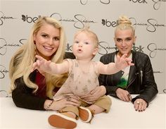 Who wants to give Maxwell a hug? Jessica Simpsons adorable nearly 11-month-old daughter completely stole the spotlight from her mom, whos expecting her second child, at a Jessica Simpson Girls Collection event in Charlotte, N.C., on Saturday, March 23.