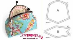 Little Purse patterns Cute Purses, Purses And Bags, Small Purses, Diy Clutch, Frame Purse, Craft Accessories, Creation Couture, Pouch, Wallet