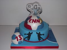 handball cake by nany délice reproduction de dessin de kennyk.com