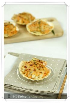 Conchas de Bacalao Gratinadas - Paperblog Curry, Seafood, Tacos, Menu, Mexican, Yummy Food, Fish, Breakfast, Ethnic Recipes