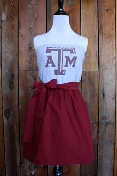 Texas A Aggies Strapless Game Day Dress  Size by jillbenimble