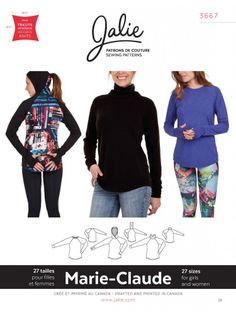 Marie-Claude Raglan Pullovers Jalie Sewing Pattern 3667 from Sew Essential. Buy with confidence from experts who care. Sewing Patterns Girls, Clothing Patterns, Sewing Ideas, Plus Size Swim, Dress Making Patterns, Couture Sewing, Sewing Blogs, Claude, My Escape