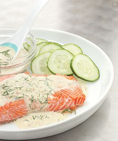 Salmon With Dijon Dill Sauce.Made this last night for dinner. This is one of the best recipes ever.This sight has 37 Ways to Serve Salmon