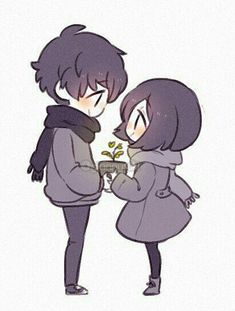 """""""Some sketches of my bf and I 🍀"""" Cute Couple Drawings, Anime Couples Drawings, Cute Anime Couples, Cute Drawings, Drawing Sketches, Kawaii Anime, Cute Anime Chibi, Kawaii Art, Cute Anime Pics"""