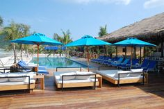 Offering an outdoor pool and a private beach area, The One Resort is located in Koh Rong Sanloem. Outdoor Pool, Outdoor Decor, The One, Outdoor Furniture Sets, Patio, Beach, Home Decor, Outdoor Swimming Pool, Playground