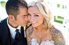 Bride with tattoos.