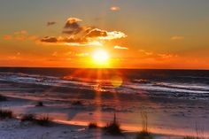 Sunrise at Fort Morgan, AL, via Flickr.