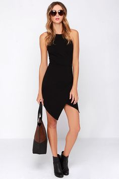 Rocksteady and Ready Black Bodycon Dress at Lulus.com!