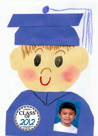 How cute!! Could be made for kids in Pre/K, K and given back when they are seniors! Cute idea for a one-day again graduation or stepping up ceremony.