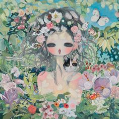Saffron Sesame Almond Clover Manuka Bugs and Light, Aya Takano 2014