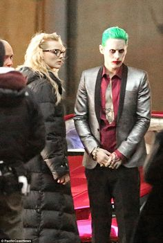 Inked: New photos form the set of Suicide Squad reveal Jared Leto's Joker WILL have those tattoos