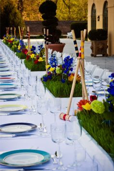Easton Events - Wedding and Event planners in Charlottesville, Virginia - Corporate Portfolio - Croquet Theme