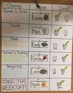 DIY Chore Charts for Kids 2019 Roommate rotating chore list idea The post DIY Chore Charts for Kids 2019 appeared first on Apartment Diy. College Roommate, College House, College Apartments, College Dorm Rooms, Roommate Ideas, Apartment Ideas College, Dorm Ideas, Roommate Rules, College Apartment Decorations