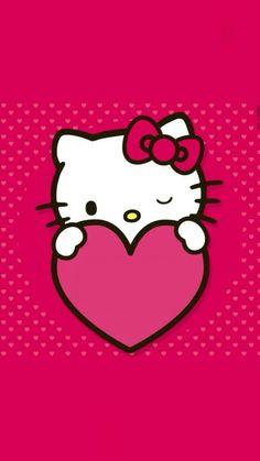 Hello Kitty Hello Kitty Crafts, Sanrio Hello Kitty, Hello Kitty Wallpaper, Heart Wallpaper