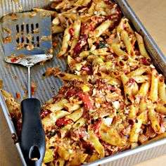 Baked Penne with Roasted Vegetables by joanne-eatswellwithothers #Pasta #Roasted_Vegetables: