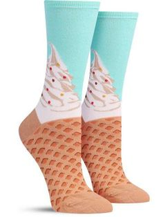 These colorful pink or mint ice cream socks let you dip your feet into a sweet dessert without dealing with a melted mess.