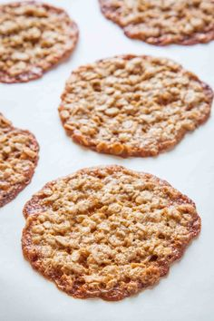 Oatmeal Lace Cookies ~ Oatmeal lace cookies have all the thin and crispy goodness you want in a cookie. So easy to make. So impressive on a cookie tray. ~ SimplyRecipes.com