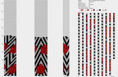 Редкие схемы для вязания жгутов из бисреа