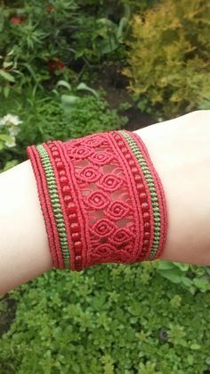 Macrame Jewelry, Macrame Bracelets, Crafty Fox, Micro Macrame, Rose Buds, Bangles, Merry, Handmade, Diy