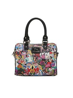 e369a3a105 Loungefly Disney Alice In Wonderland Tossed Character Barrel Bag