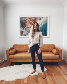 Everlane 'At Home' Spring Capsule Outfits) Outfit Jeans, Jeans Outfit Winter, Pijamas Women, Casual Outfits, Cute Outfits, Casual Clothes, Winter Clothes, Sous Pull, Dark Skinny Jeans