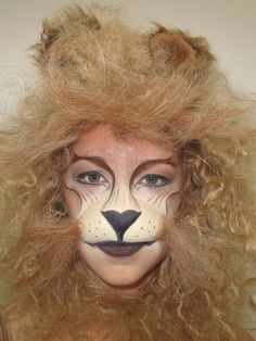 One of my favorite lion makeup ideas. Maybe it's the fuzzy mane that makes me love it so.
