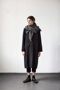 ce9972390e Manteau linen and wool noir disponible taille L uniquement