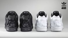The Star Wars x Adidas ZX Flux Collection Portrays Geeky Glamour #adidas trendhunter.com
