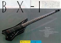 Yamaha BX-1 headless bass guitar sans double ball strings